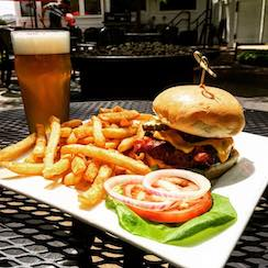 Burger Fries Beer