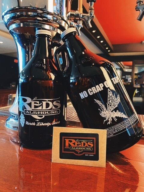 Reds Alehouse Growlers